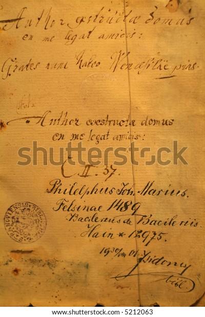 very old handwriting