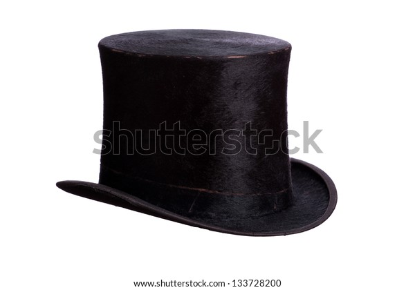 very old hat on white