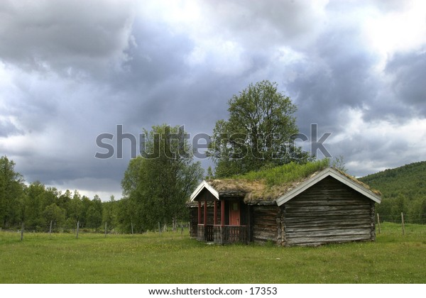 A very old holiday cabin or farm house in northern norway.