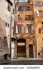 Very old residential house located in Grasse, France.