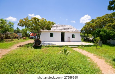 very old restored slave on curacao on a sunny day