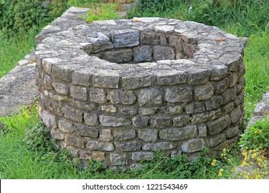 Very Old Round Stone Ground Water Well