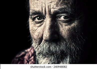 Very old senior man
