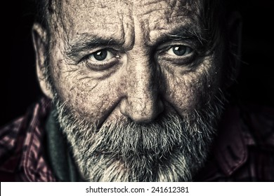 Porträt von sehr alten Senioren