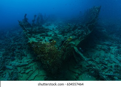 Very old ship wreck from 1800's inside the reef