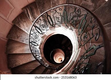Very old spiral stairway case