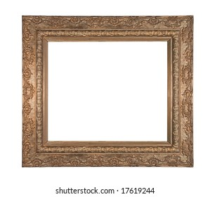 Very old stylistic copper frame