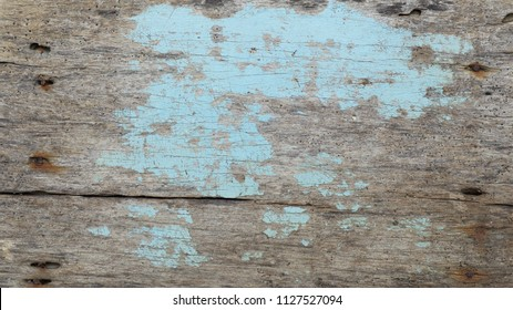 very old vintage scratch light blue painted and natural wood texture background, used, beach style, summer concept, theme, design, trend