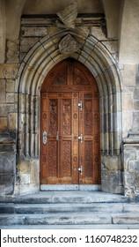 very old wooden door as nice background