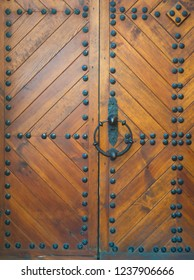 very old wooden doors in the castle