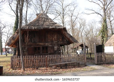very old wooden house with fence