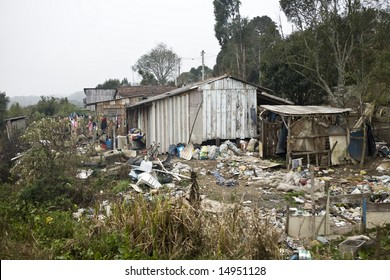 Very poor houses in Parana State - Brazil.