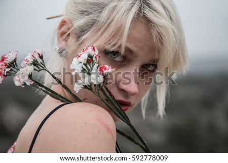 Very Pretty Russian Young Girl Bloody Stock Photo Edit Now