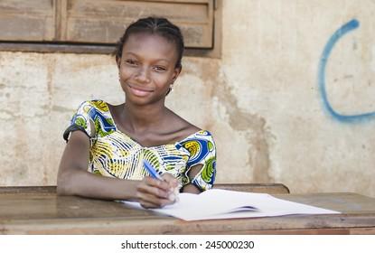 Very Proud Black African Girl Posing Under The Sun