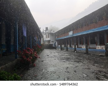 Very rainy day in Nepal