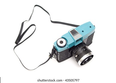 Very simple lomography camera isolated over white