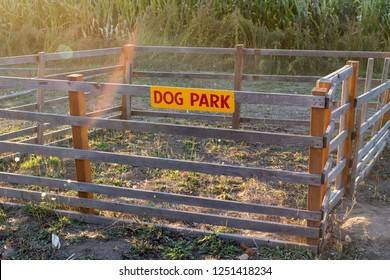 Very small and impractical dog park with a fence around it to house pets at Detering Organic Farm near Eugene Oregon during the Fall.