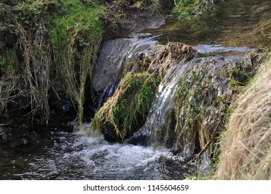 Very small waterfall watercourse