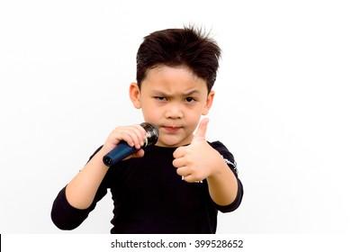 Very smart singer Asian kid
