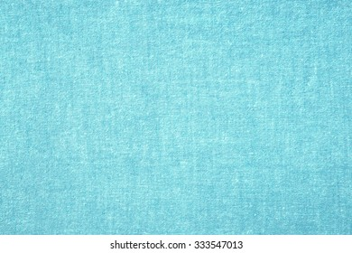 Very soft cyan fabric wallpaper texture background.
