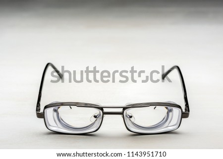 Very Strong Glasses Thick Lenticular Lenses Stock Photo (Edit Now ...