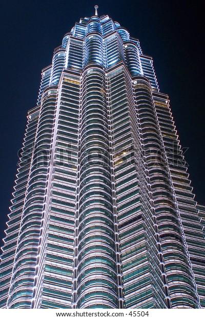 Very Tall Metallic Building