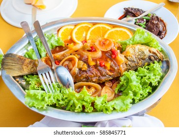 the very tasty fried fish