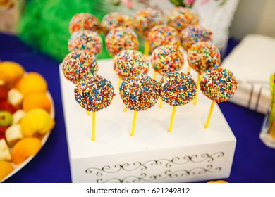 Very tasty sweets on a stick