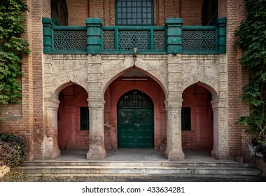 A very traditional style entrance of an old building in Peshawar, Pakistan