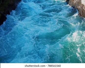 very turbulent white water