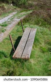 very uncomfortable bench...
