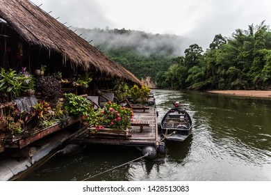 very unique experience! Must try once in a lifetime at River Kwai Jungle Rafts Resort  Kanchanaburi,Thailand
