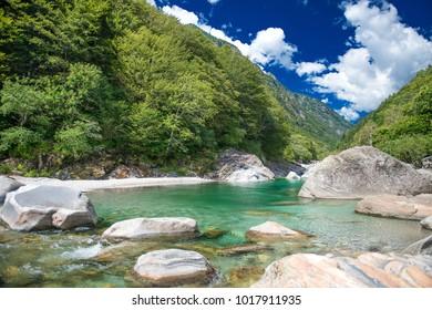 Verzasca Valley in Tessin, Switzerland