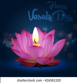 Vesak Day on blue background