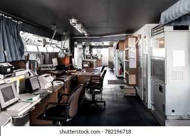 Vessel bridge room or working room in Japanese style