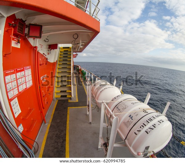 Vessel Ship Parts Hull Superstructure Job Stock Photo (Edit