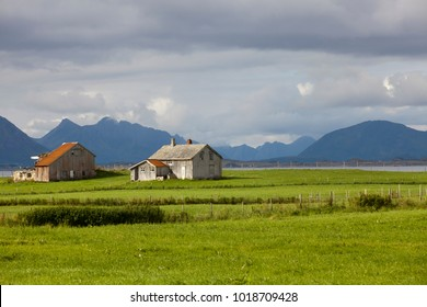Vesteralen Islands / Norway - August 31, 2017: Vesteralen landscape, Vesterålen, Nordland, Norway, Scandinavia, Europe