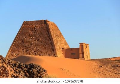 Vestige of the Archeological site of Meroe in Sudan