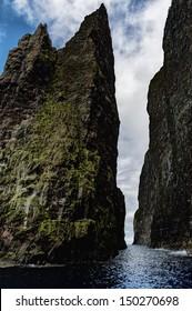 Vestmanna cliffs in the Faroe Islands