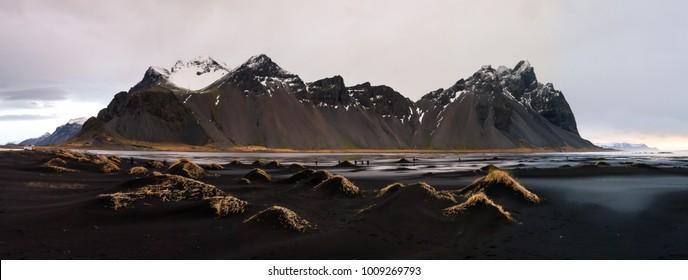 Vestrahorn Iceland at Stokksnes, Eastern Iceland landscape