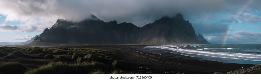 The Vestrahorn mountain range in east Iceland.