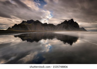 Vesturhorn iconic Mountain in Iceland