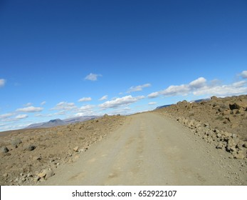 Vesturland, Iceland in September 2016: Driving on Route F550 through the dust