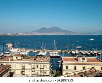 Vesuvio view from Napoly harbor