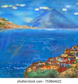 Vesuvius oil painting