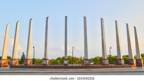Veteran Memorial Bridge in Fargo, North Dakota, United States.