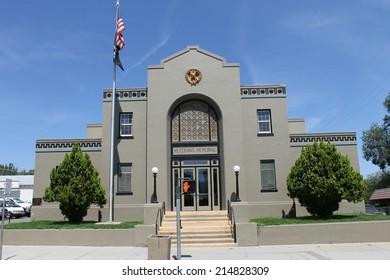 Veteran Memorial Building - Shutterstock ID 214828309