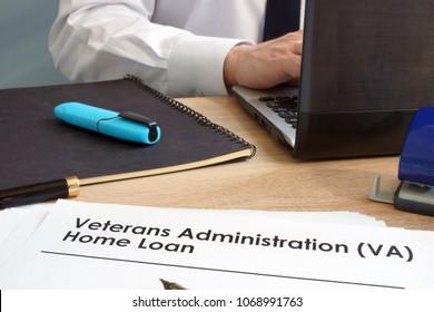 Veterans Administration (VA) Home Loan application form.
