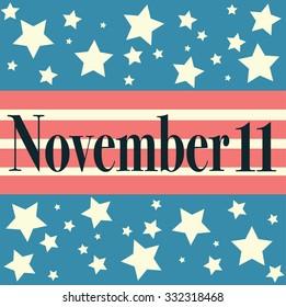 Veterans Day Embleme. November 11. Patriots