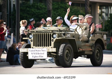 Veteran's Day Parade -United States Navy WWII Retired Fighter Pilot